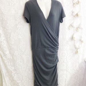 James Perse gray jersey midi dress sz L